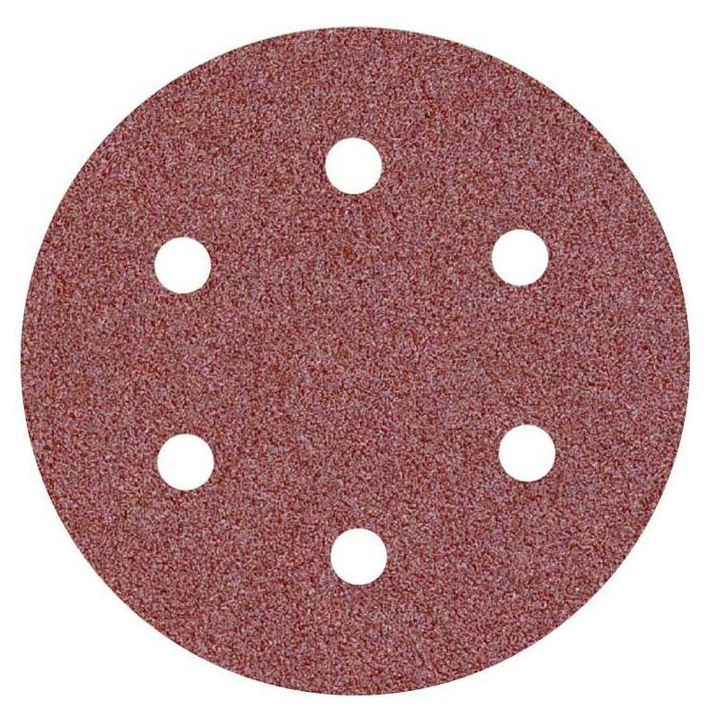 MioTools Fox 50 Klett-Schleifscheiben K80 Normalkorund 6-Loch Exzenterschleifer f /Ø 150 mm