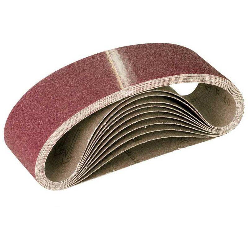 3 X Schleifbänder für Bandschleifer K40 75 x 457mm Schleifband