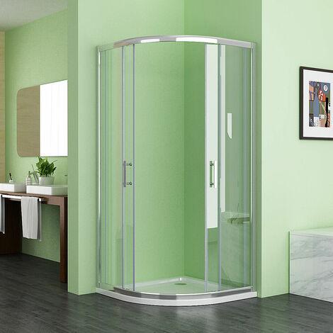 MIQU HCS 1200x800 Offset Quadrant 6mm Sliding Door Nano Easyclean Glass Shower Enclosure Corner Cubicle 1200x800 No Tray