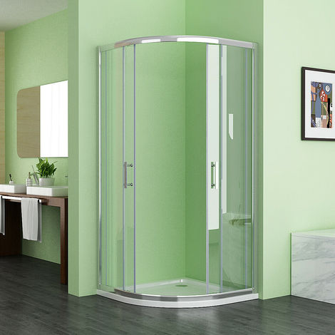 MIQU HCS 800x800 Offset Quadrant 6mm Sliding Door Nano Easyclean Glass Shower Enclosure Corner Cubicle 800x800 No Tray