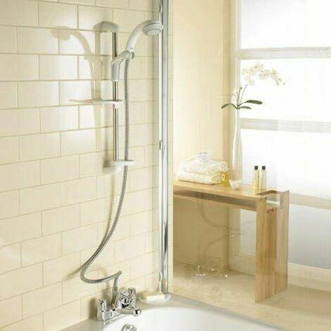 Mira Extra Thermostatic Bath Shower Mixer White & Chrome