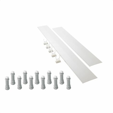 Mira Flight Low 'Easy Plumb' Shower Tray Riser Kit 1200mm White 1.1697.033.WH