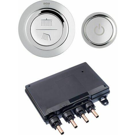 Mira Mode Dual Digital Shower Valve & Controller Chrome HP/Combi