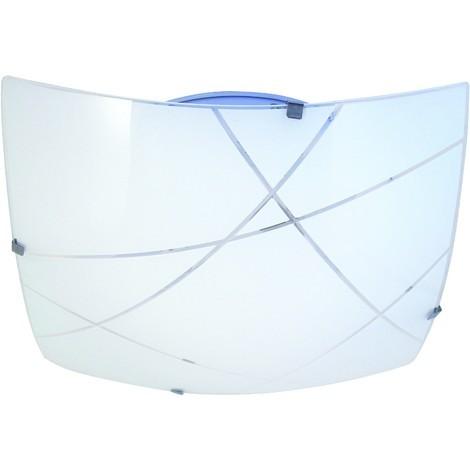 MIRA: Plafoniera in vetro, quadrata 40x40cm, 2xE27