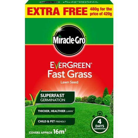 """main image of """"Miracle-Gro Fast Grass Seed Promo 480gm - 119618"""""""