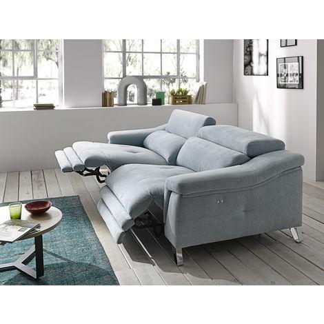 Mirella Italian Fabric Reclining 2 Seater Sofa Memory Foam Seating