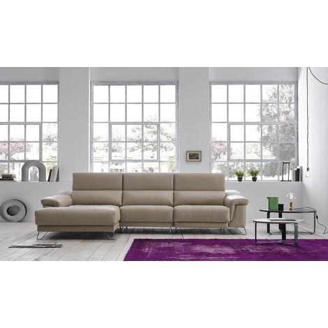 Mirella Italian Leather Corner Group Sofa Crema Memory Foam Seats