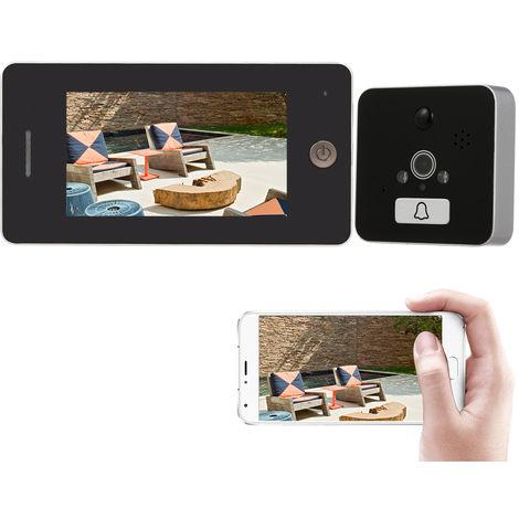 Mirilla inalambrica de video timbre de la puerta, la puerta del espectador digital de Seguridad mirilla