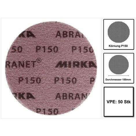Mirka ABRANET Disque 150mm P150, 50 Pièces. ( 5424105015 )