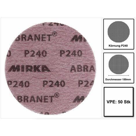 Mirka ABRANET Disque support papier - Diamètre 150mm P240 - 50 Pièces. ( 5424105025 )