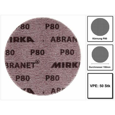 """main image of """"Mirka ABRANET Disque support papier - Diamètre 150mm P80 - 50 Pièces. ( 5424105080 )"""""""