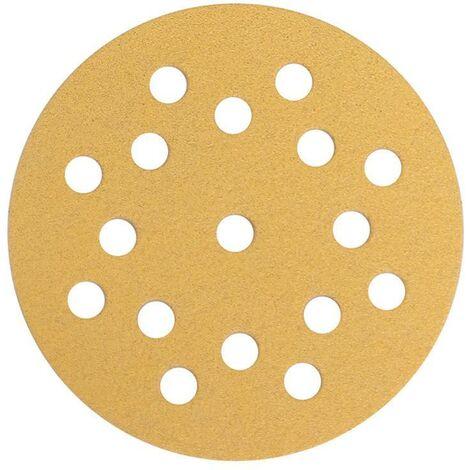 Mirka Abrasif GOLD 125mm, Grip 17T, grain 80, 50/unité - 2364705080