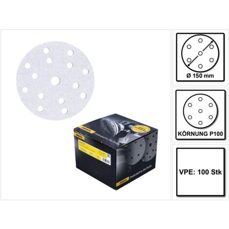 Mirka BASECUT Disques abrasifs auto-agrippants 150 mm, P100, 15 trous, 100 pcs. ( 2261109910 )