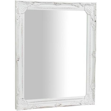 Miroi pour suspension verticale/horizontale L36,5xPR3xH47 cm finition antique blanche