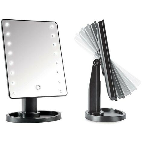 Miroir 16 LED avec touches tactiles