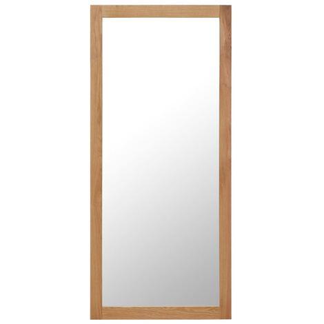 Miroir 50 x 140 cm Bois de chêne massif
