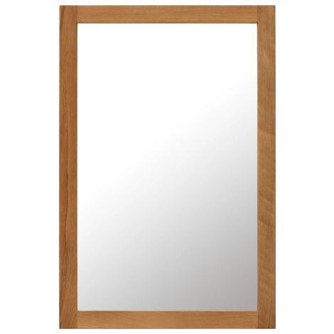 Miroir 60 x 90 cm Bois de chêne massif