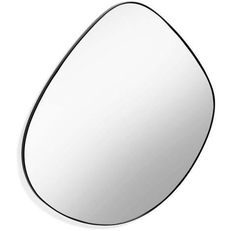 Miroir 90 cm en métal noir APOLO - L 90 x l 93 x H 2