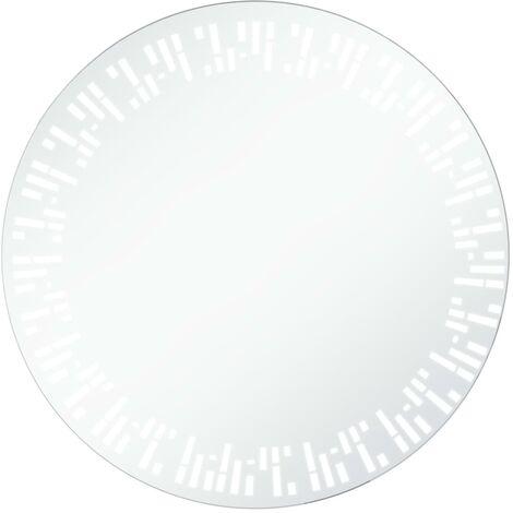 Miroir à LED pour salle de bain 60 cm