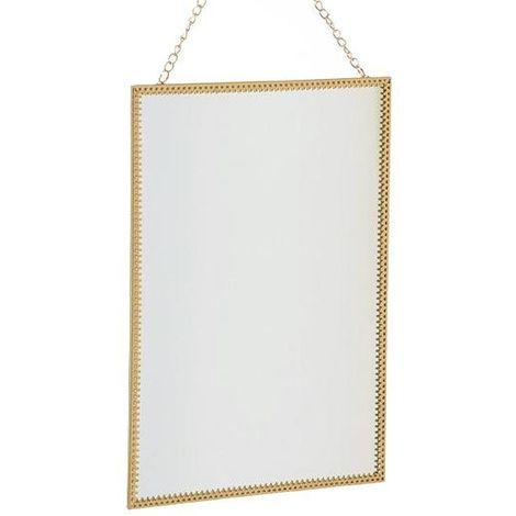 Miroir à suspendre rectangle or Rectangle - Or