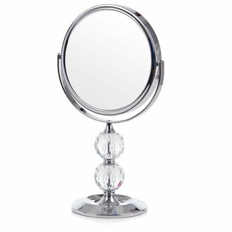 Miroir argenté d'inspiration glamour
