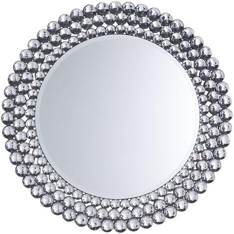 Miroir argenté rond STENAY