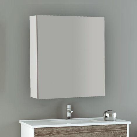 Miroir armoirette, un ou trois miroirs de porte, différentes tailles et couleurs 60 CM Blanc