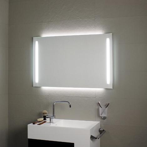 Miroir avec éclairage à LED en façade et rétro-éclairage 80x60H - Koh-I-Noor L45926
