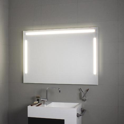 Miroir avec éclairage à LED horizontal et vertical Tre Luci 140x80H - Koh-I-Noor L45923