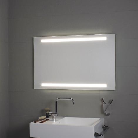 Miroir avec éclairage à LED supérieur et inférieur 140x80H - Koh-I-Noor L45934