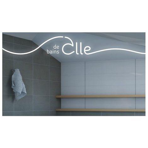 Miroir avec éclairage LED - Salle de Bains III Par Joël Guenoun - 70 cm x 120 cm (HxL)