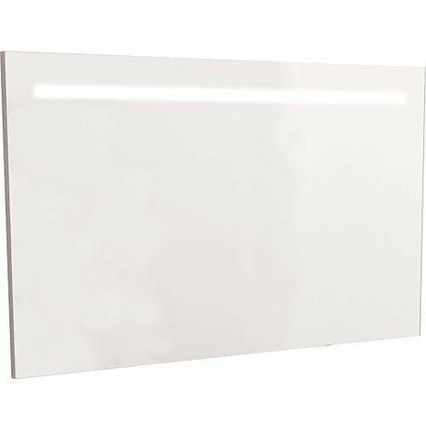 Miroir avec joue décorative et éclairée, largeur 1200 mm
