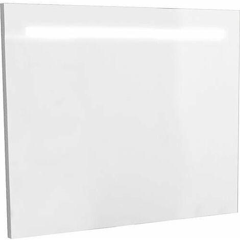 Miroir avec joue décorative et éclairée, largeur 900 mm