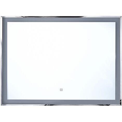 Miroir avec LED 90 x 70 cm ARGENS