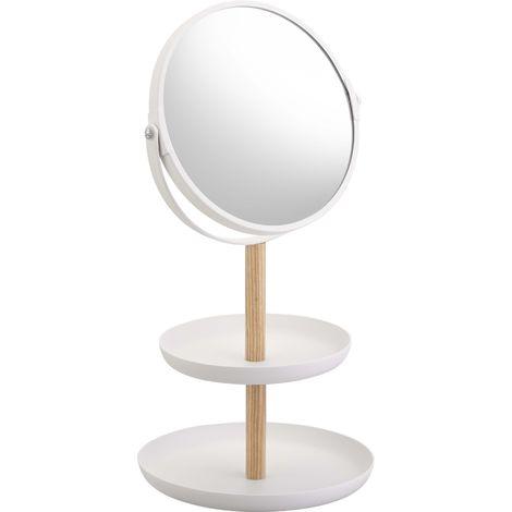 Miroir avec range bijoux intégré Tosca - Blanc