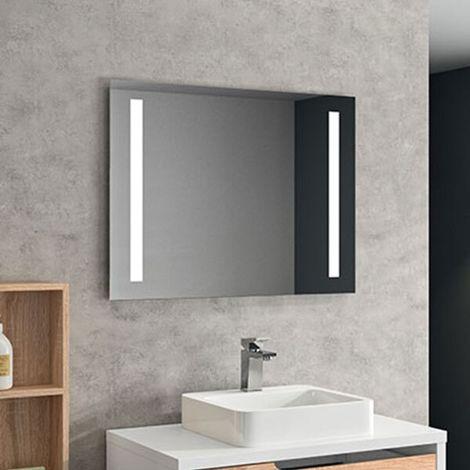 Miroir bandeau 80 cm chêne clair