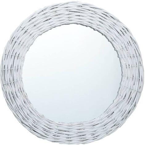Miroir Blanc 80 cm Osier
