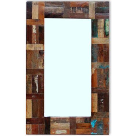 Miroir Bois de récupération massif 80 x 50 cm