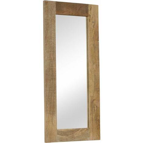 Miroir Bois massif de manguier 50 x 110 cm