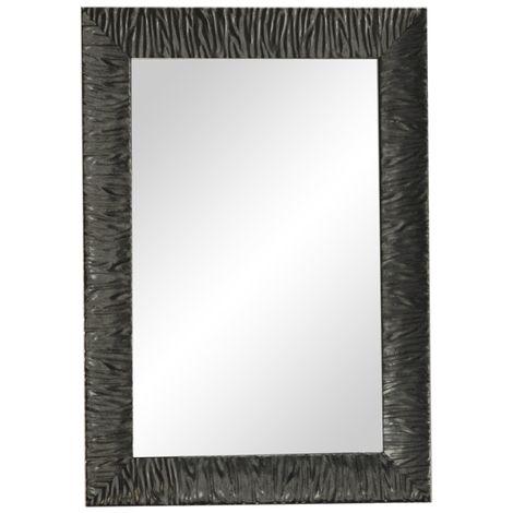 Miroir cadre bois Noir Parigi 90-70 cm - Ondyna KMP9013