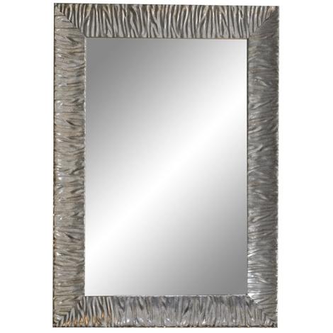 Miroir cadre bois Silver Parigi 90-70 cm - Ondyna MP9719