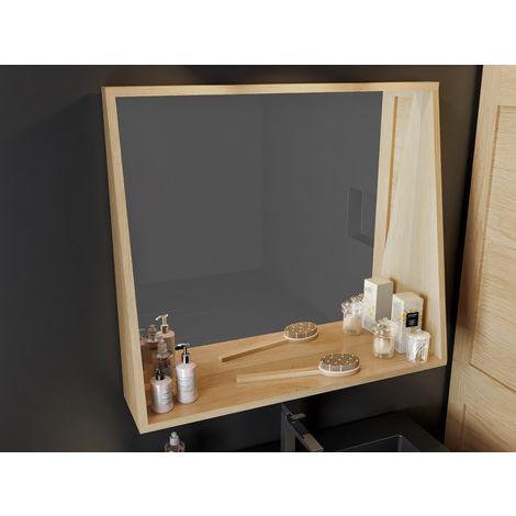 Miroir cadre Jak avec étagère