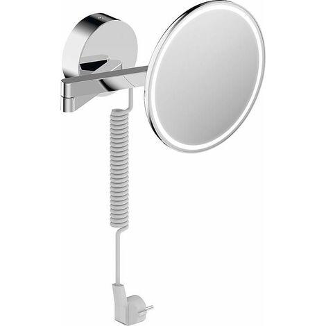Miroir comestique Sam avec éclairage LED, grossissement x 3 avec cable
