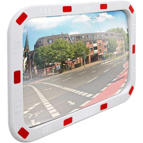 Miroir convexe circulation trafic avec réflecteurs support inclus 40 x 60 cm
