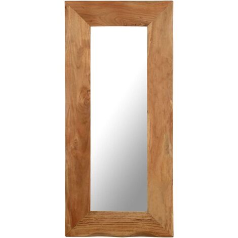 Miroir cosmétique 50x110 cm Bois solide d'acacia