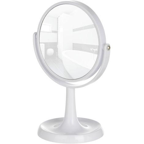 Miroir cosmétique à poser Rosolina blanc WENKO