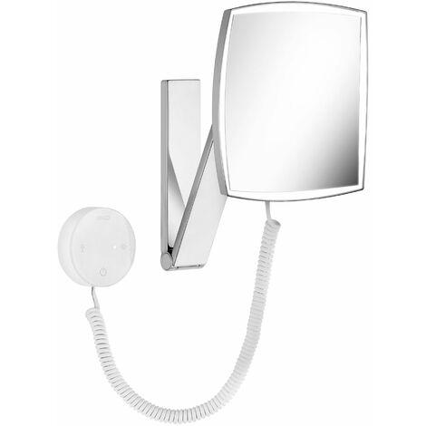 Miroir cosmétique Keuco iLook_move, 17613, éclairé, couleur de la lumière réglable sur 5 niveaux, surface du miroir : 200x200 mm, chromé - 17613019000