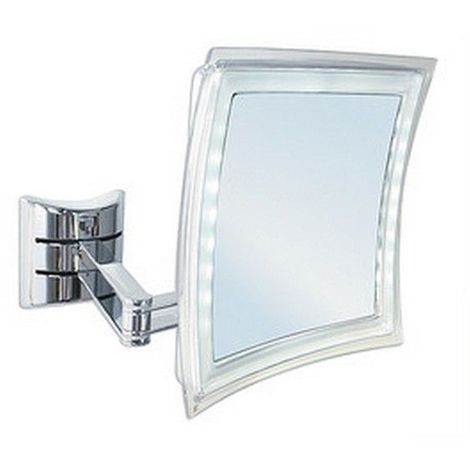 Miroir cosmétique PALINI grossissant 5 x Dimensions miroir 210 x 210 - Diagonale 220 mm Platine de fixation 90 x 90 mm / Couleur: Chromé / Référence: 411210