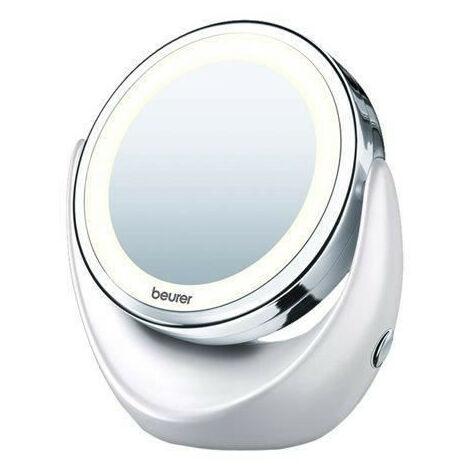 Miroir cosmétique rotatif avec lumiere LED et augmentation pour le maquillage Beurer