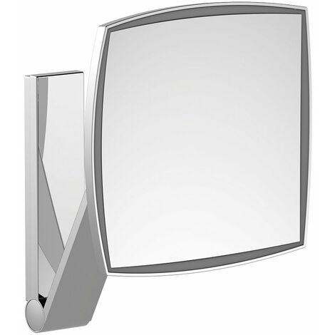 Miroir de courtoisie Keuco iLook_move, 17613, éclairé, 1 couleur de lumière, surface du miroir : 200 x 200 mm, chromé - 17613019003